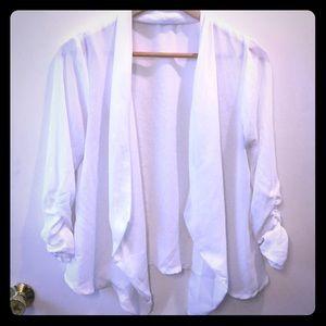 ⚪️White light sheer suit jacket blazer⚪️